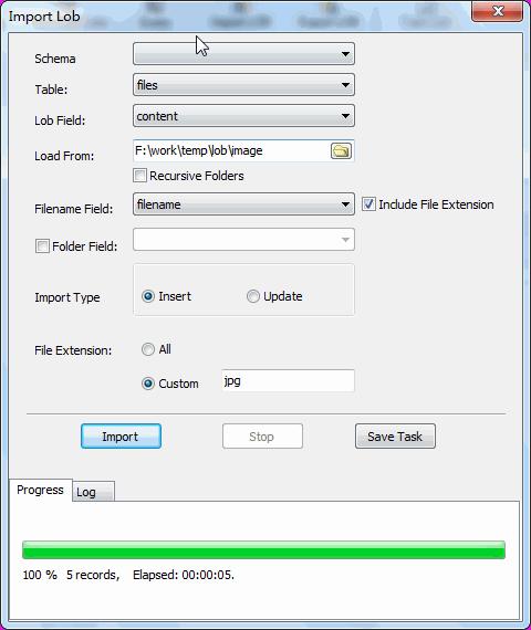 Batch save image files into PostgreSQL BYTEA (BLOB)  - import