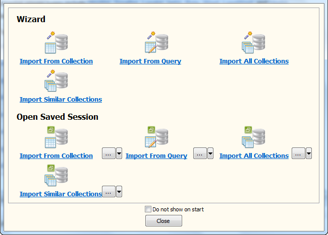 Batch import data from MongoDB collections to MySQL  tables - Task Window