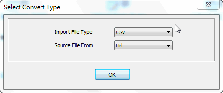 convert online CSV file to Oracle table - select type