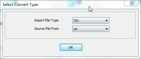 convert online TSV file to Oracle table - select type