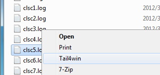 Windows Explorer Integration Tail
