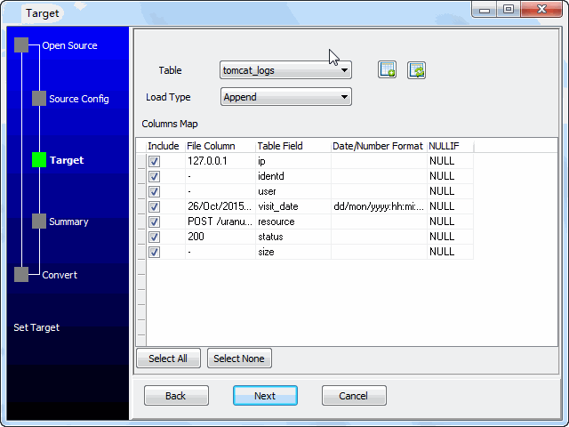 Parse and Load Tomcat Visit Logs into SQL Server  - select table