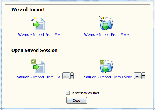 Batch import TSV files data To SQLite - task window