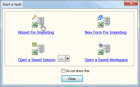 Import Data From Excel To SQL Server - task window