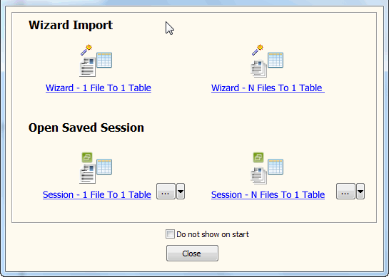 convert online EXCEL file to Oracle table - task window