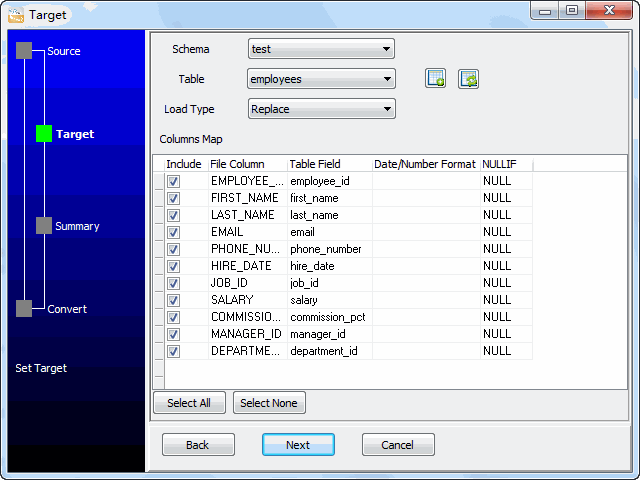 Bulk load XML files data To Oracle - select table