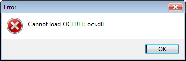 Cannot Load Oci Dll